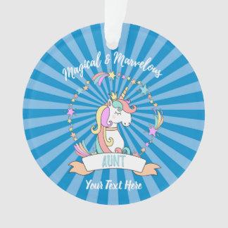 Magical Marvelous Aunt  - Unicorn Princess Ornament