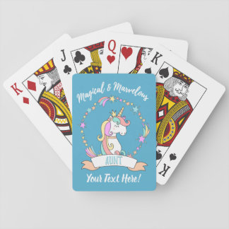 Magical Marvelous Aunt  - Unicorn Princess Playing Cards
