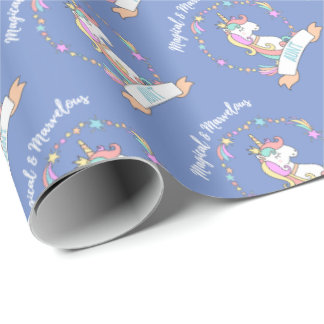 Magical Marvelous Aunt  - Unicorn Princess Wrapping Paper