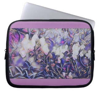 Magical Mauve Flowers Neoprene 10in Laptop Sleeve