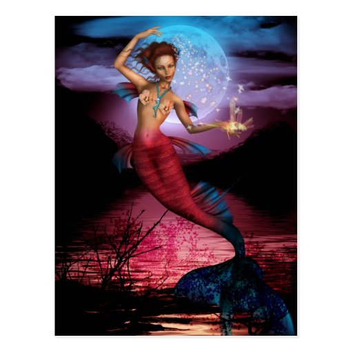 Magical Mermaid Moon Postcard