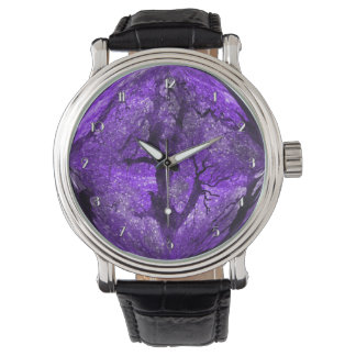 Magical Midnight Purple Crystal Ball Wrist Watch