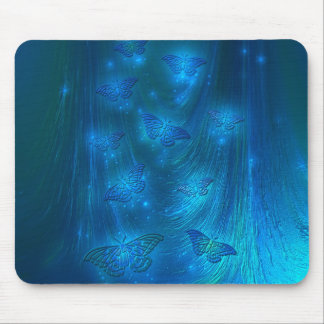 Magical Moths in Blue Mouse Pad