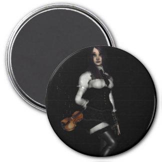 magical music 7.5 cm round magnet