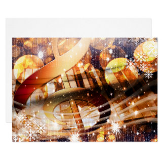 magical music note piano teacher festive holiday card