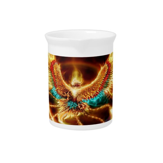 Magical & Mystical Fantasy Flying Fire Phenix Pitcher