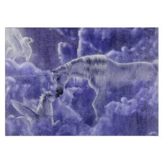 Magical & Mystical Fantasy Unicorns Night Sky Cutting Board