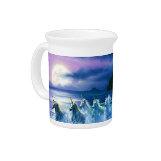 Magical & Mystical Fantasy Unicorns Night Sky Pitcher