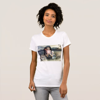 Magical Mystical Woman with Wolves Shirt