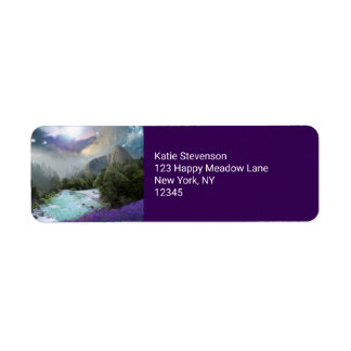 Magical Nature Landscape with Rushing Water Return Address Label