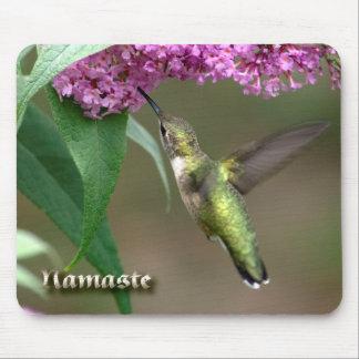 Magical Neon Ruby-throat Hummingbird Mousepad