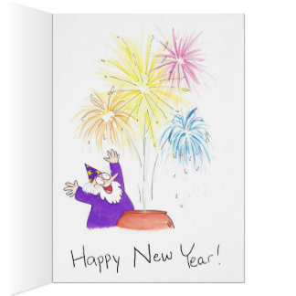 Magical New Year greeting card by Nicole Janes