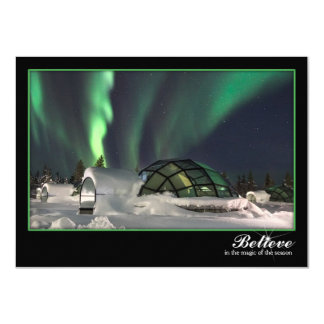 Magical Northern Lights Christmas Card