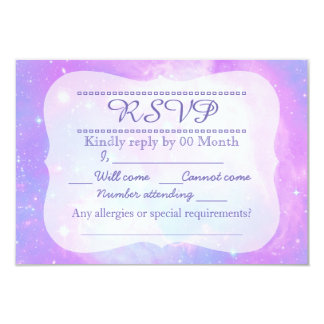 Magical pastel space galaxy RSVP 9 Cm X 13 Cm Invitation Card