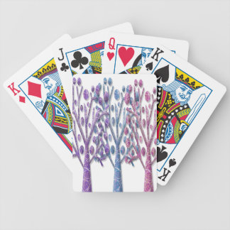 Magical pastel trees poker deck