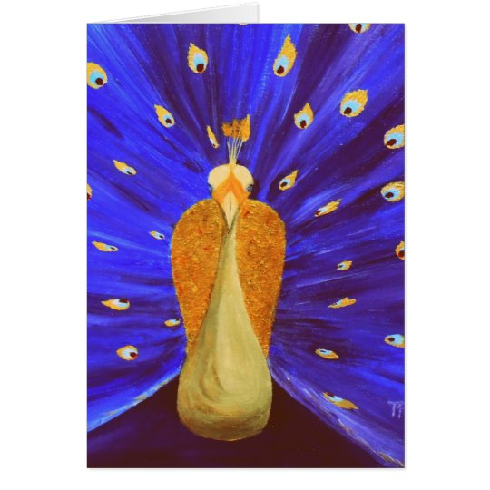 Magical Peacock - Greeting Card