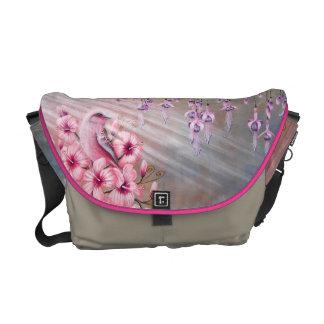 Magical Pink Bird Handbag Commuter Bags