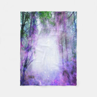 Magical Portal in the Forest Fleece Blanket