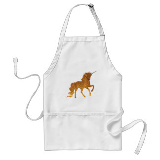 Magical Prancing golden Unicorn various colors Standard Apron