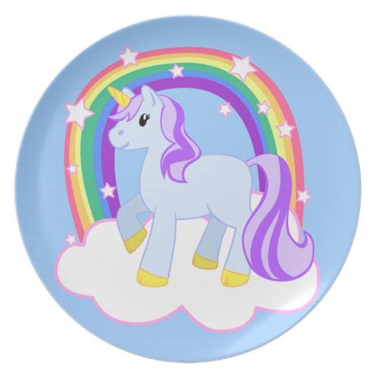 Magical Pretty Unicorn Plate