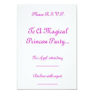 Magical Princess Party R.S.V.P. 9 Cm X 13 Cm Invitation Card