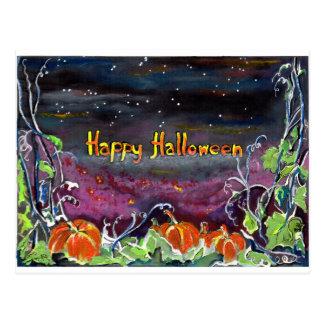 Magical Pumpkins Halloween Collection Postcard