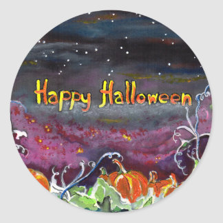 Magical Pumpkins Halloween Collection Round Sticker