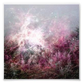 Magical Purple Pixie Dust Nebula Wilderness Photo Print