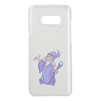 Magical purple wizard magician sorceress uncommon samsung galaxy s8 plus case