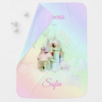 Magical Rainbow Castle Princess Baby Blanket