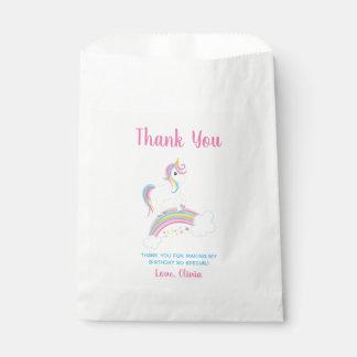 Magical Rainbow Unicorn Birthday Favour Bag