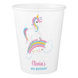 Magical Rainbow Unicorn Birthday Paper Cup