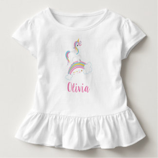 Magical Rainbow Unicorn Birthday Personalized Toddler T-Shirt