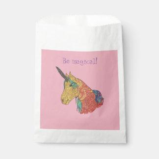 Magical rainbow unicorn favour bag