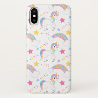 Magical Rainbow Unicorn iPhone X Case