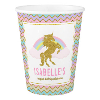 Magical Rainbow Unicorn Party Cups