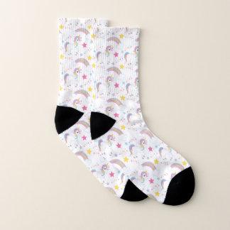 Magical Rainbow Unicorn Pattern Socks
