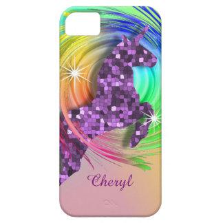 Magical Rainbow Unicorn Personalized iPhone 5 Case