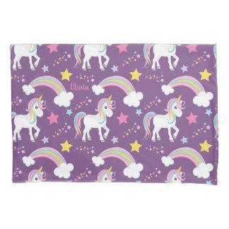 Magical Rainbow Unicorn Personalized Pillowcase