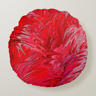 Magical Red Round Cushion