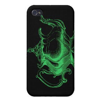 Magical Retro Green Altered Light Victorian Teapot iPhone 4 Cases
