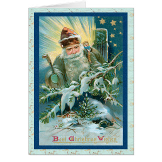 Magical Santa Claus Christmas Card