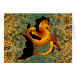 Magical Sea Horse Collection Card