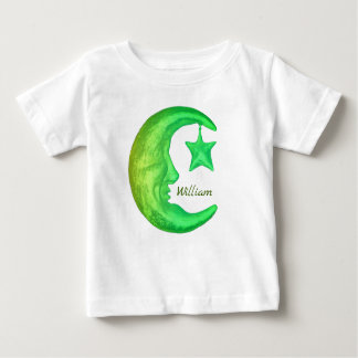 Magical Shining Half Moon with Star -  Personified Baby T-Shirt