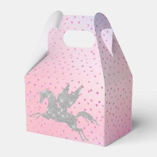 Magical silver unicorn party favor box favour box
