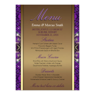Purple And Gold Wedding Invitations & Announcements ...