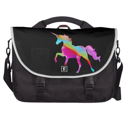 Magical sparkly rainbow prancing unicorn bag for laptop