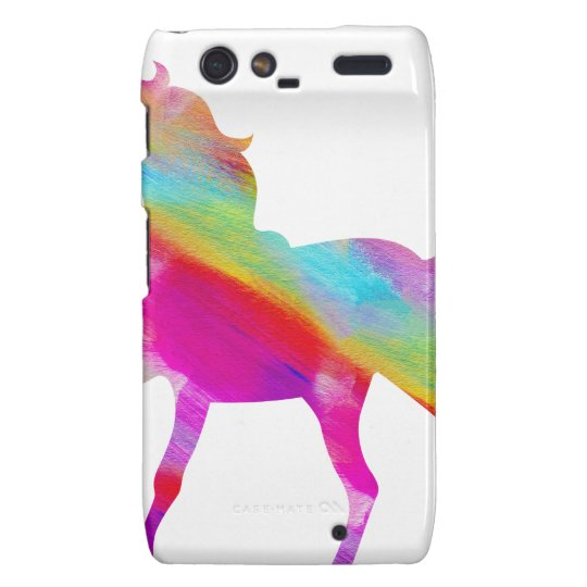 Magical sparkly rainbow prancing unicorn droid RAZR covers