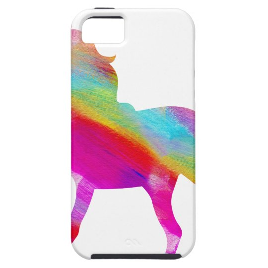 Magical sparkly rainbow prancing unicorn iPhone 5 covers
