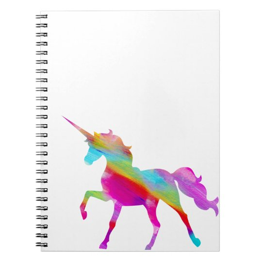 Magical sparkly rainbow prancing unicorn notebooks